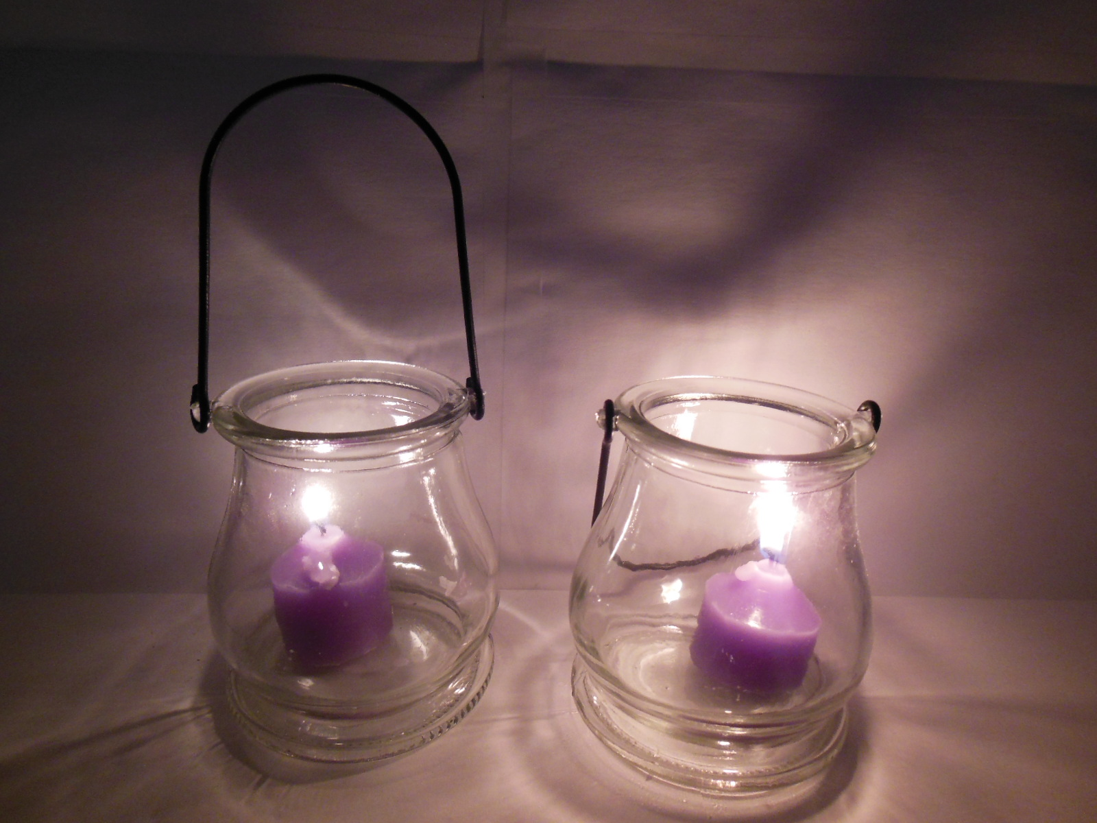 Hanging T Light Holders Part - 40: ... Hanging Glass Tea Light Holder Wedding Favor. Glass Candle Holder